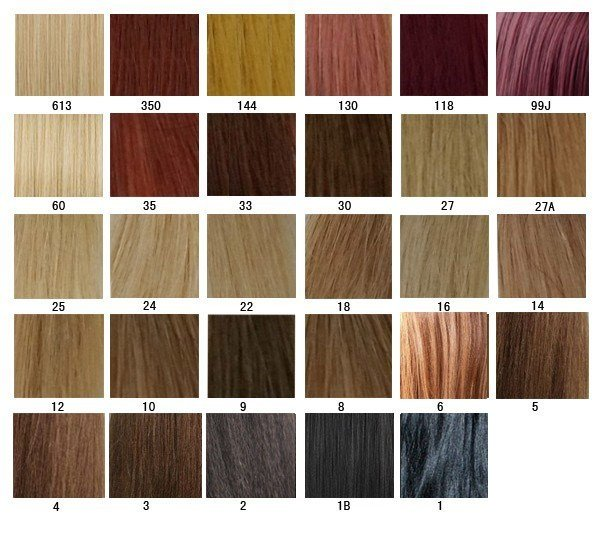 The Best Hair Color Chart Aprillacewigs Com Pictures