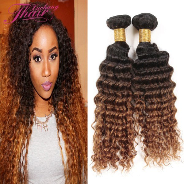 The Best Vip Beauty Hair Brazilian Deep Curly 2 Bundles 1B 4 30 Ombre V*Rg*N Brazilian Hair Deep Wave Pictures
