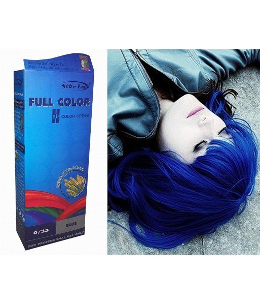 The Best Hair Color Permanent Hair Cream Dye Starlist Bright Blue Pictures