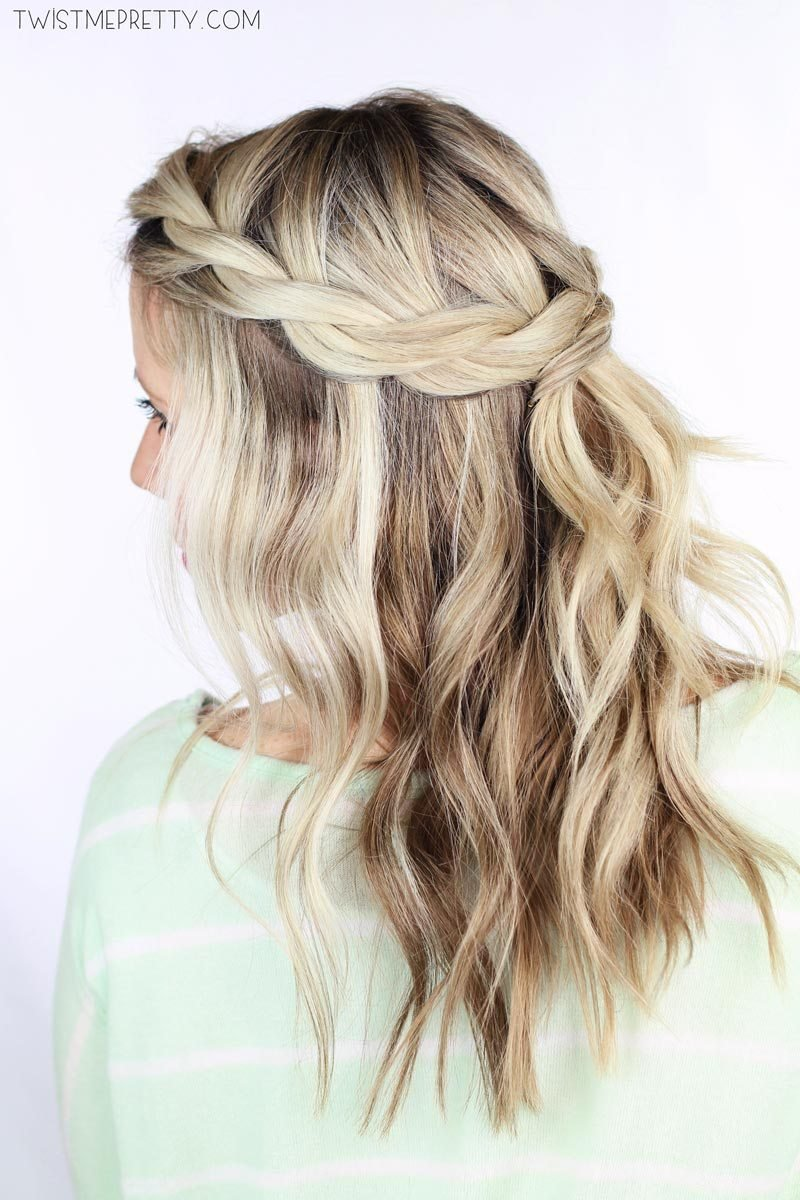 The Best Twisted Crown Braid Tutorial Twist Me Pretty Pictures