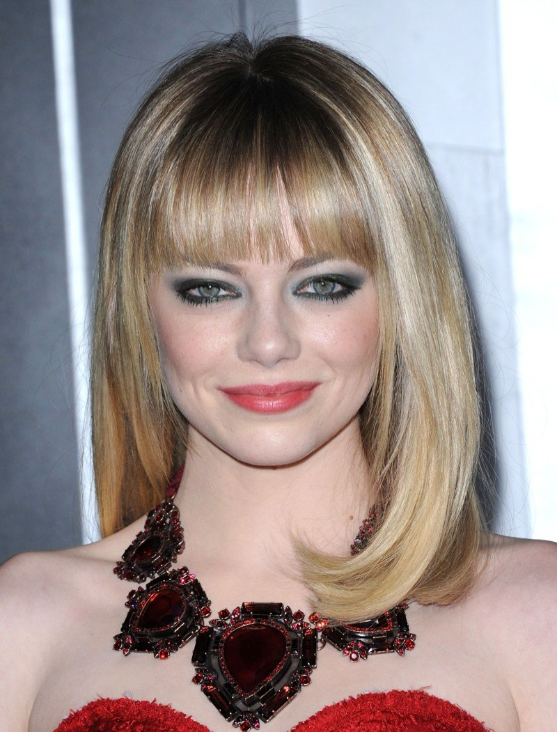 The Best Emma Stone Blonde Hairstyle Bangs Pictures