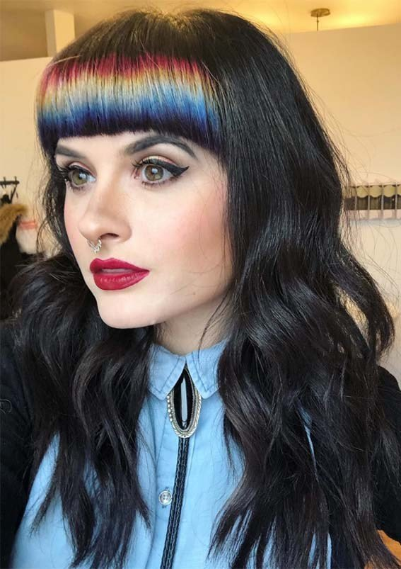 The Best 45 Latest Long Black Hairstyles With Bangs In Year 2019 Pictures