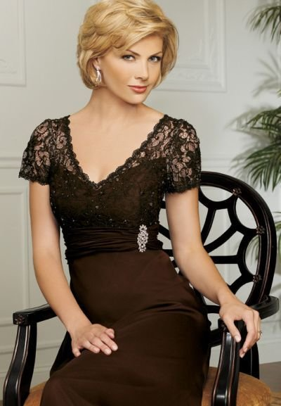 The Best Caterina By Jordan Mob Dress With Empire Lace Bodice 7008 Pictures