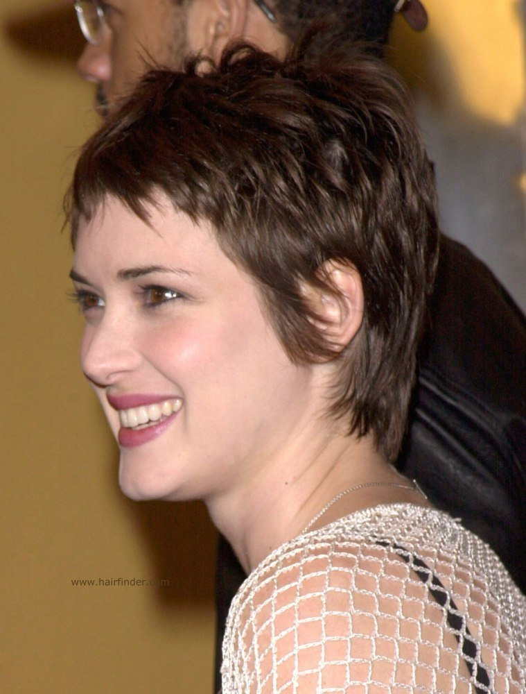 The Best Winona Ryder Sweet Pixie Cut For A Heart Shaped Face Pictures