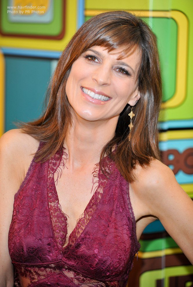 The Best Perrey Reeves Simple Carefree Medium Long Hairstyle That Pictures