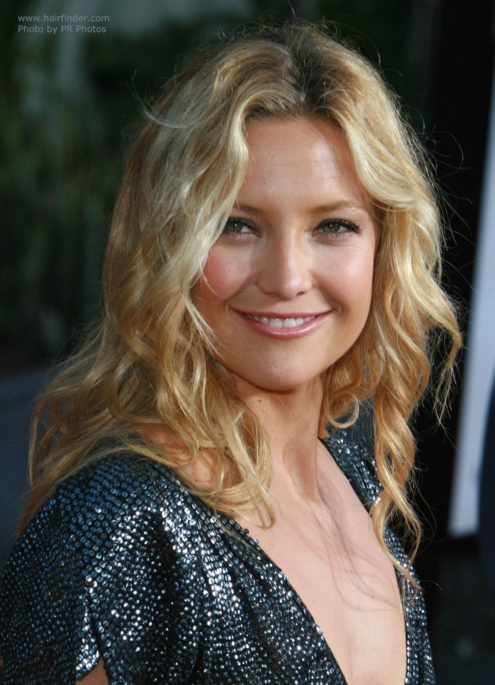 The Best Kate Hudson S Hair With Natural Looking Waves And Spirals Pictures