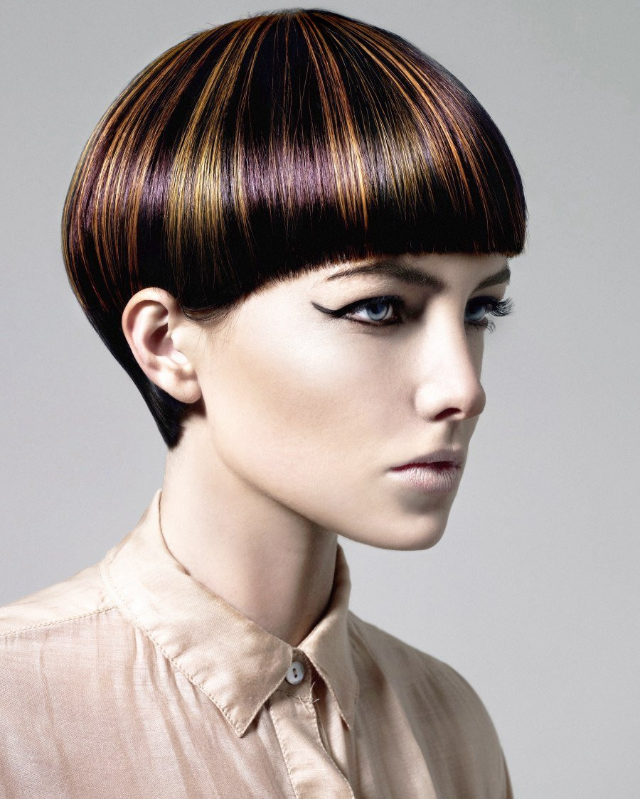 The Best Short Haircut With A Daring Hair Color Pattern Pictures