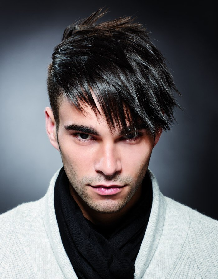 The Best Men S Hair Styled To The Side With Gel Spikes Pictures