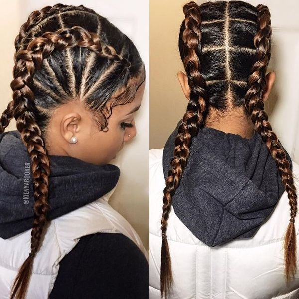 The Best Two Braids Hairstyles African American Hairstyling Pictures