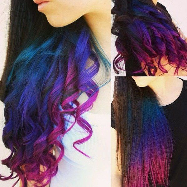 The Best How To Dip Dye Your Hair At Home With Three Different Pictures