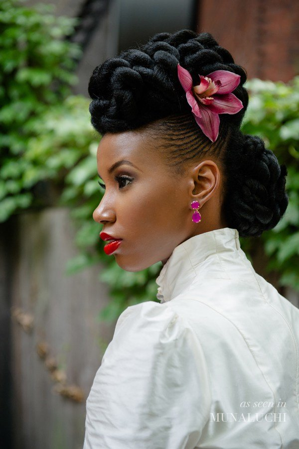 The Best Natural Hair Bridal Style Lurie Daniel Favors Http Going Natural Com Bridal Hairstyles An All Pictures
