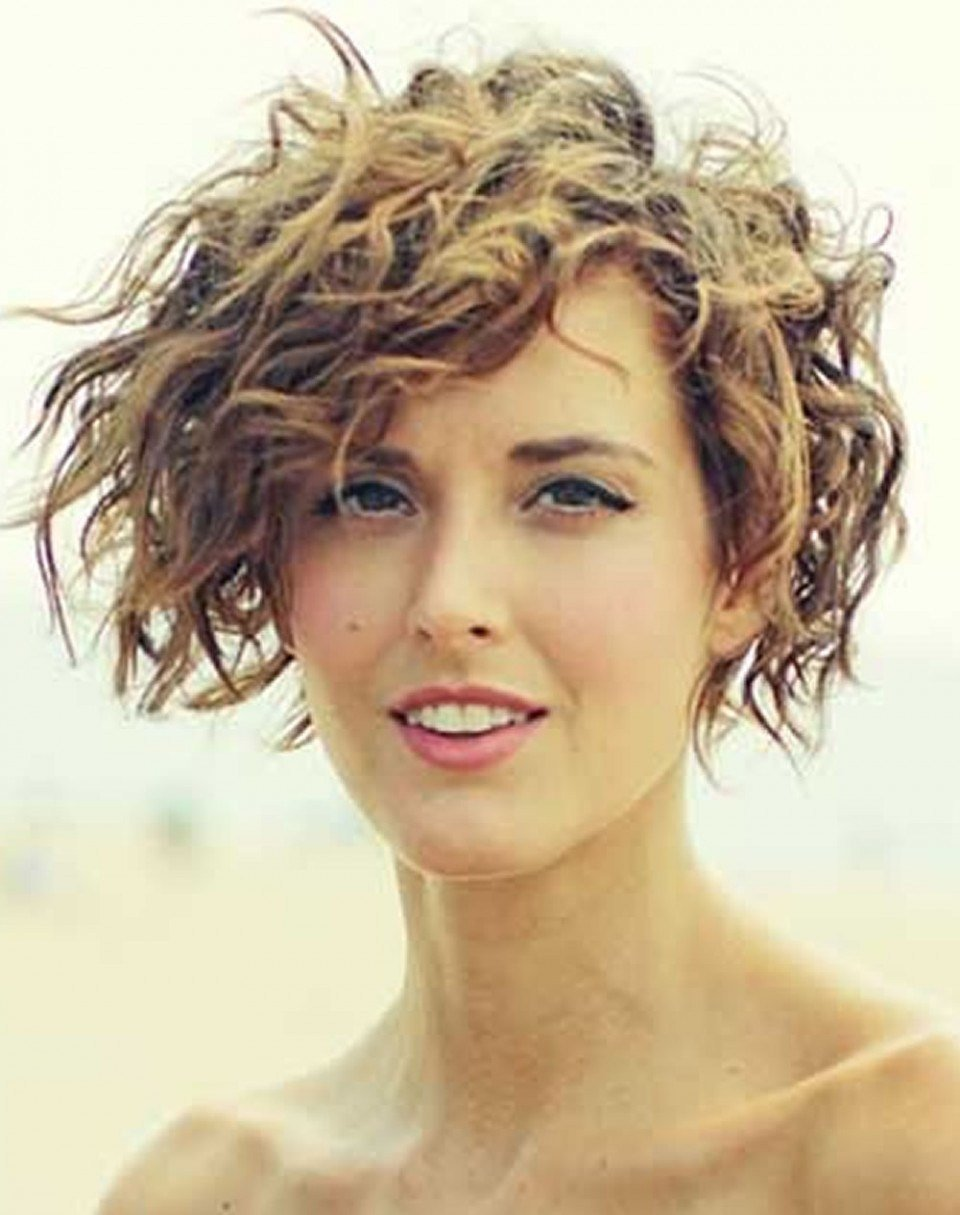 The Best Curly Hairstyle Down Asymmetrical Short Curly Hair Styles Pictures