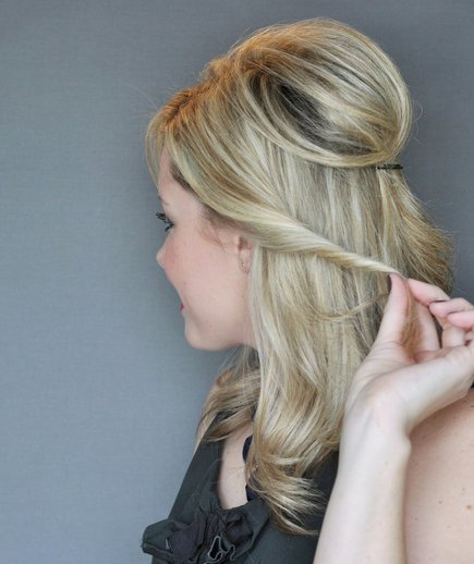 The Best Step 3 How To Do A Half Up Twist Hairstyle Real Simple Pictures