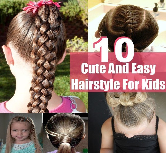 The Best 10 Simple Sweet Cute And Easy Hairstyle For Kids Diy Pictures