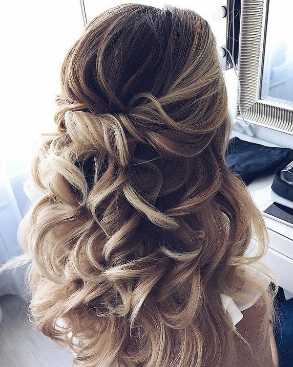 The Best 15 Chic Half Up Half Down Wedding Hairstyles For Long Hair Pictures