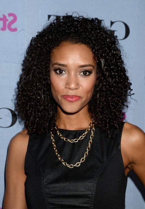 The Best Annie Ilonzeh Shoulder Length Black Curly Hairstyle For Pictures