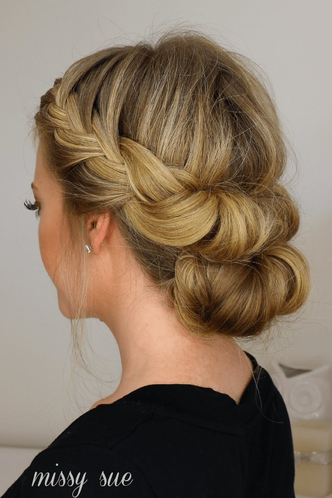 The Best Tuck And Cover French Braid Half With A Bun Pictures