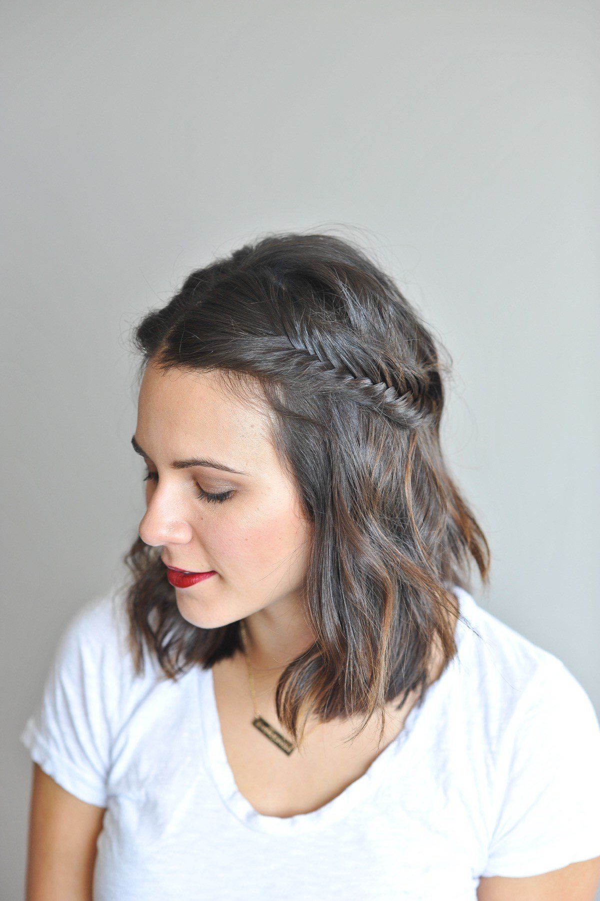 The Best Fishtail Braid Tutorial For Short Hair Pictures