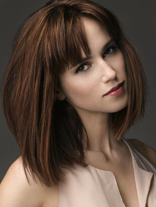 The Best 10 Trendy Ideas For Medium Hairstyles With Bangs Popular Pictures