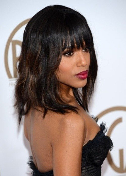 The Best 10 New Black Hairstyles With Bangs Popular Haircuts Pictures
