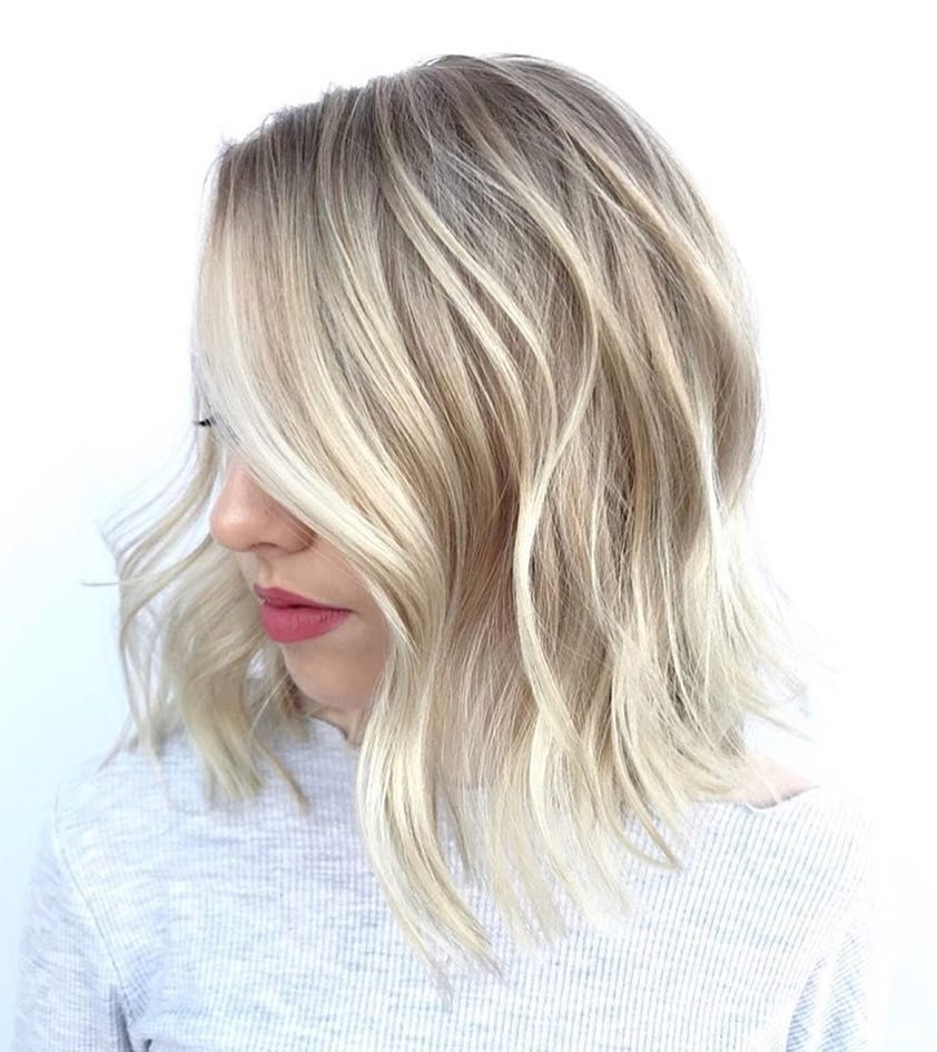 The Best 10 Wavy Haircuts For Medium Length Hair 2019 Pictures