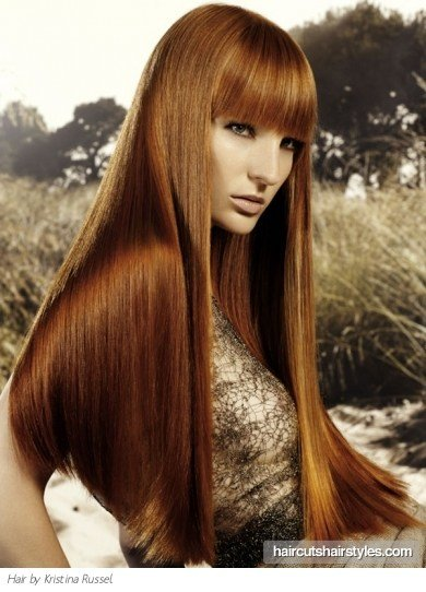 The Best Super Long Red Haircut Pictures