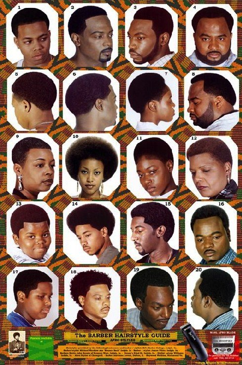 The Best Black Barber Hairstyle Guide Poster Hairstyles By Unixcode Pictures