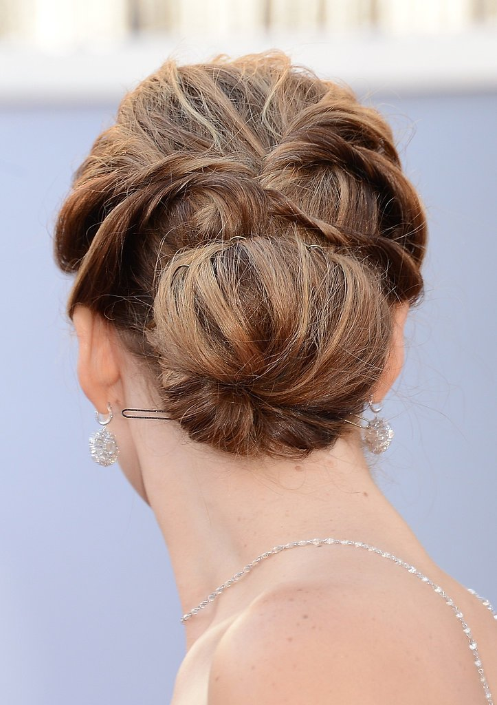 The Best Modern Updos Buns And Chignons Celebrity Hair How To Pictures