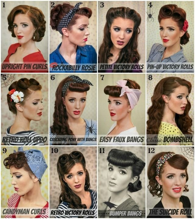 The Best Vintage Pin Up Hairstyle Alldaychic Pictures
