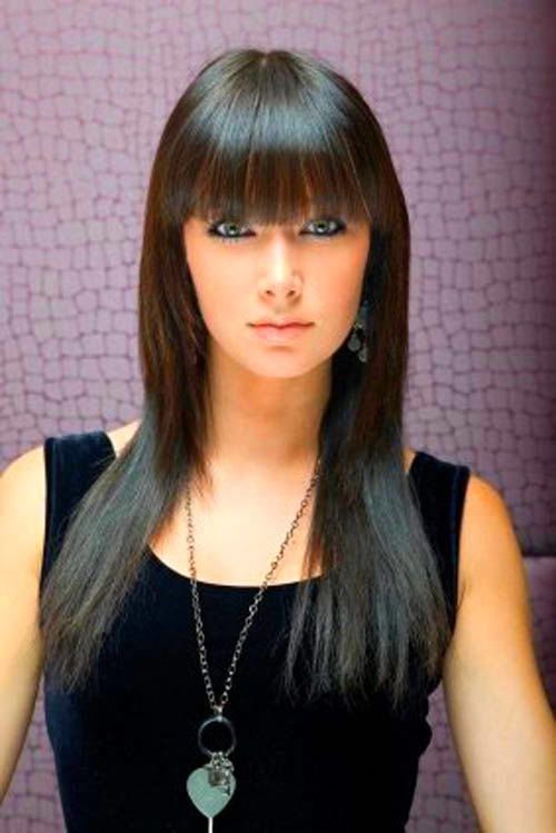 The Best Straight Hair Style With Bangs For You Hair Style Top Pictures