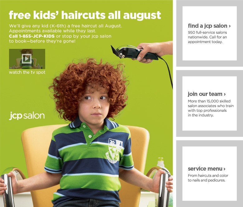 The Best Free Haircut For Kids At Jcpenney – Back To School Deal Pictures