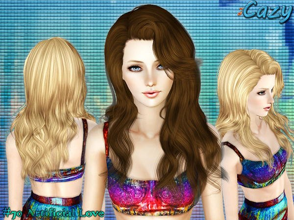 The Best My Sims 3 Blog Cazy Artificial Love Hair For Females Pictures