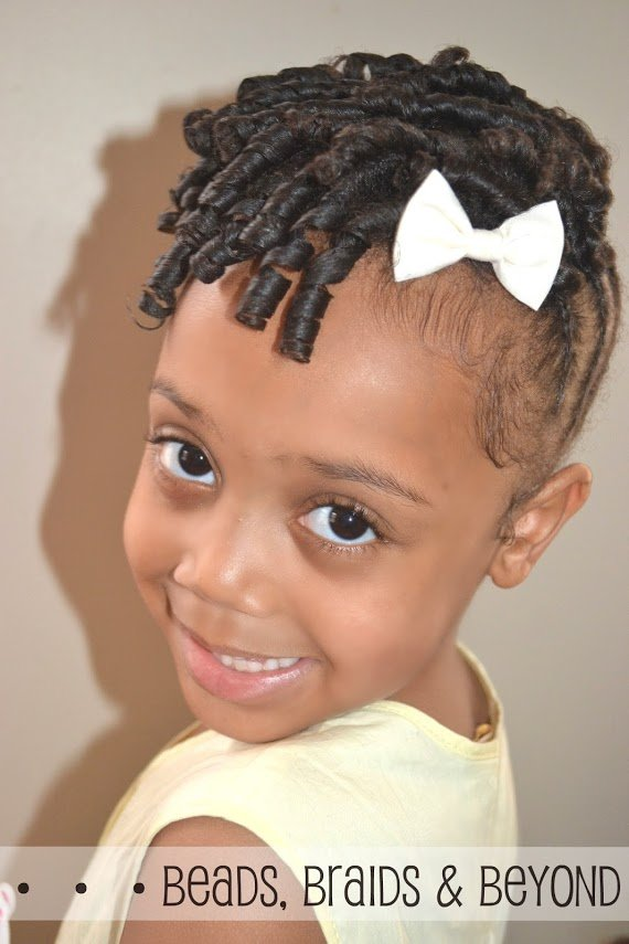 The Best Little Girls Natural Hairstyle Flexi Rod Updo With Pictures