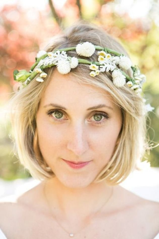 The Best 30 Ways To Style Short Hair For Your Wedding Bridal Musings Pictures