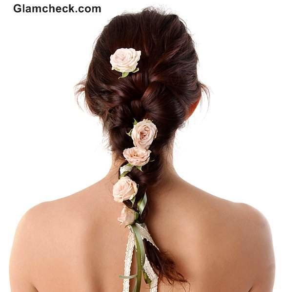 The Best Indian Hairstyles With Flowers Pictures