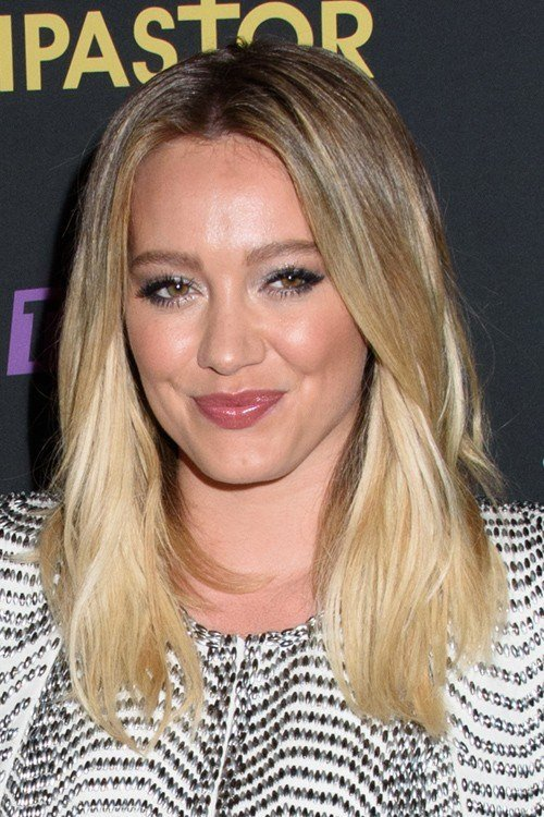 The Best Hilary Duff Straight Medium Brown Two Tone Hairstyle Pictures