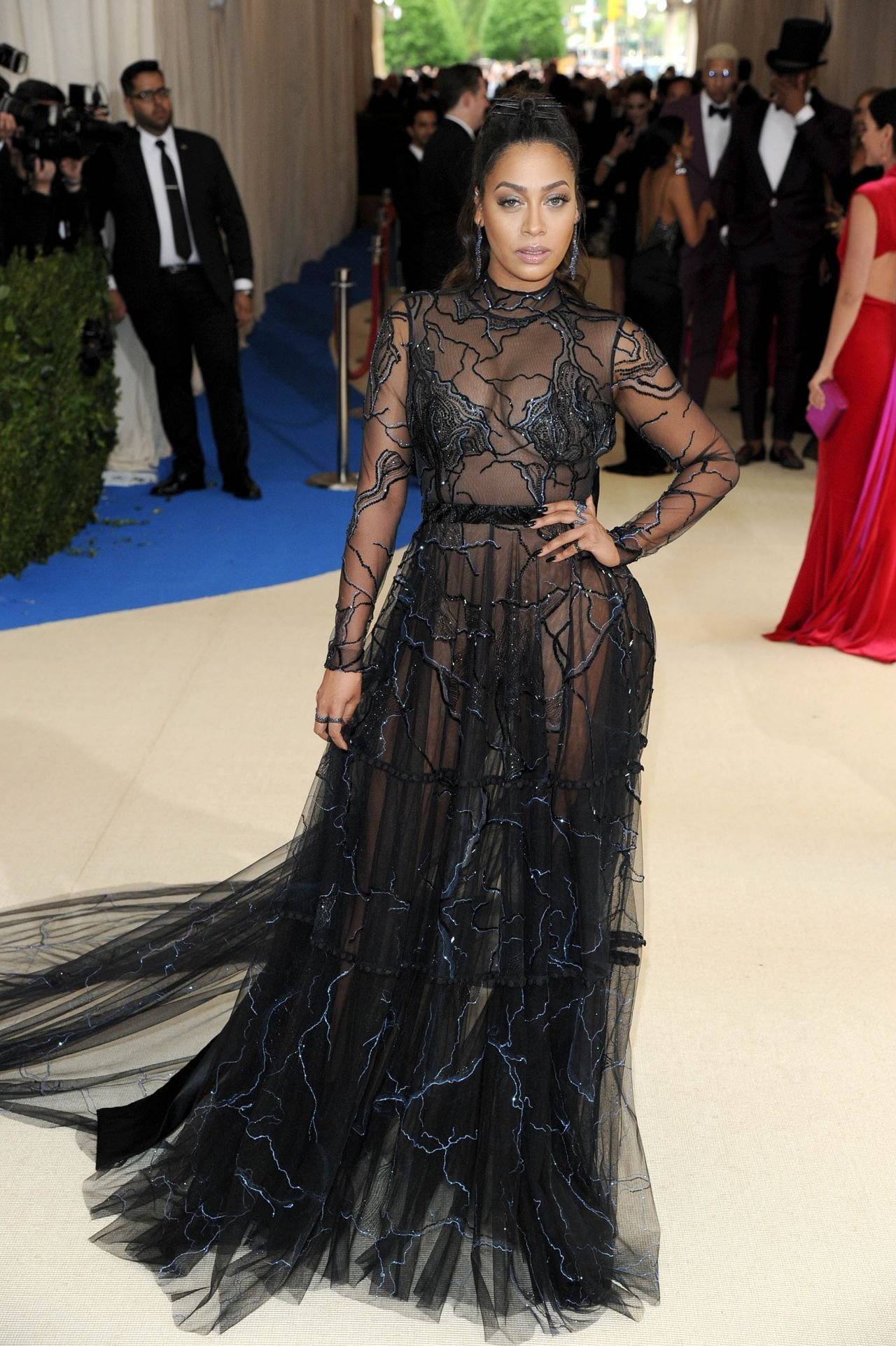 The Best La La Anthony At Met Gala In New York 05 01 2017 Pictures