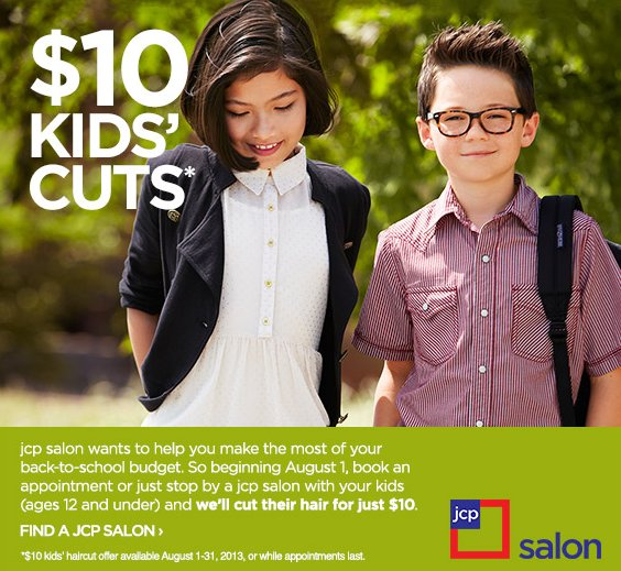 The Best Back To School Haircut Deals At Fantastic Sams Jc Penney Pictures