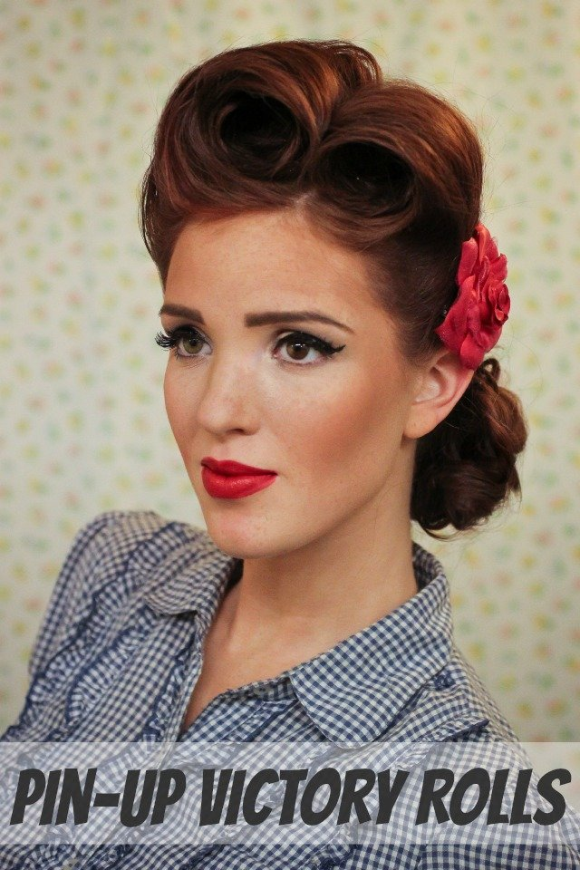 The Best The Freckled Fox Modern Pin Up Week 2 Pin Up Victory Rolls Pictures