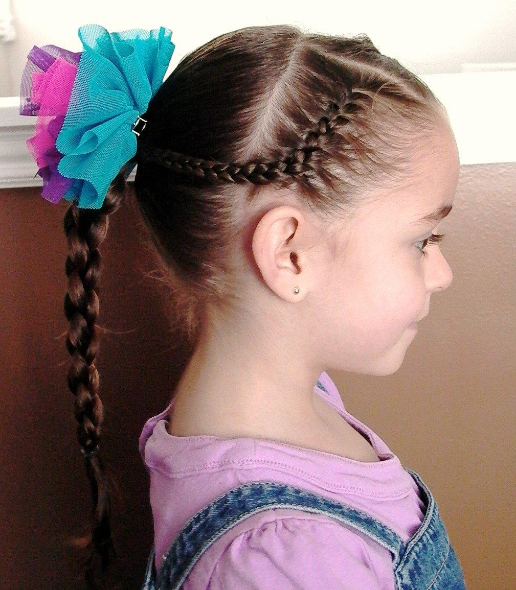 The Best Little Girl's Hairstyles — How To Use A 4 Strand Braid Pictures