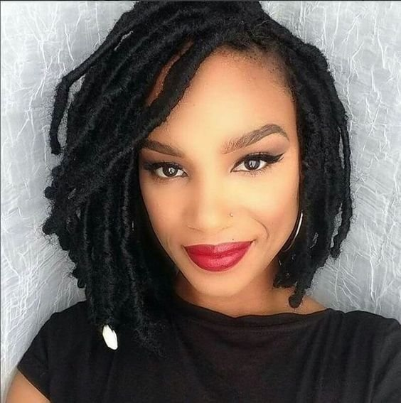 The Best 30 Short Faux Locs Hairstyles How To Style Short Faux Locs Pictures