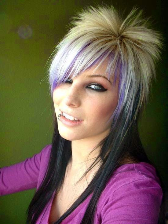 The Best Latest Women Hair Styles Funky Hairstyles For Medium Pictures