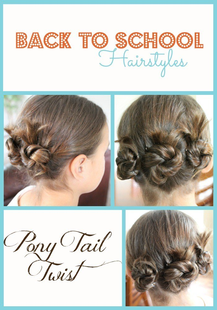 The Best Back To School Hairstyles Pony Tail Twist Fabulessly Pictures