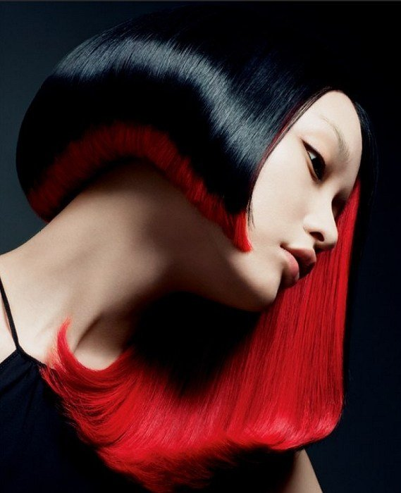 The Best Glossy Black And Red Hair Hair Colors Ideas Pictures