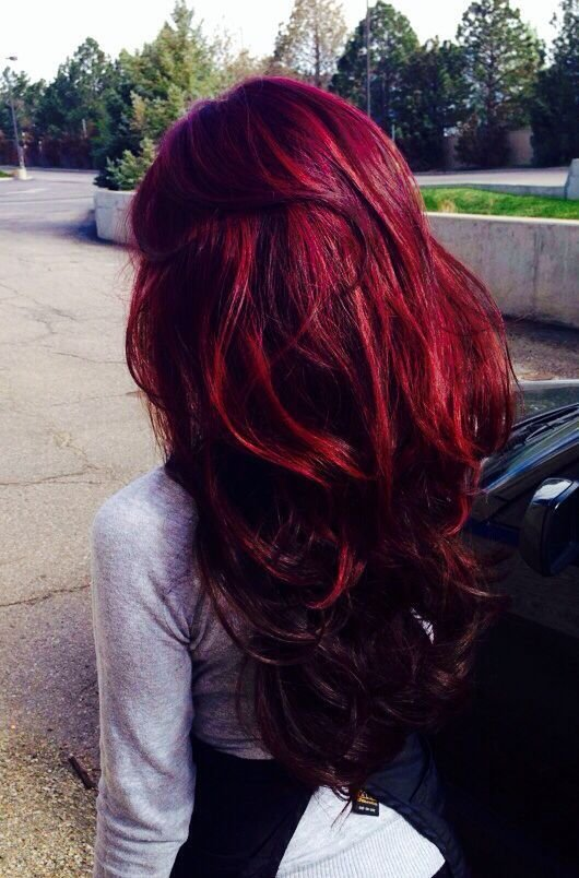 The Best Deep Red With Purple Tones Hair Colors Ideas Pictures