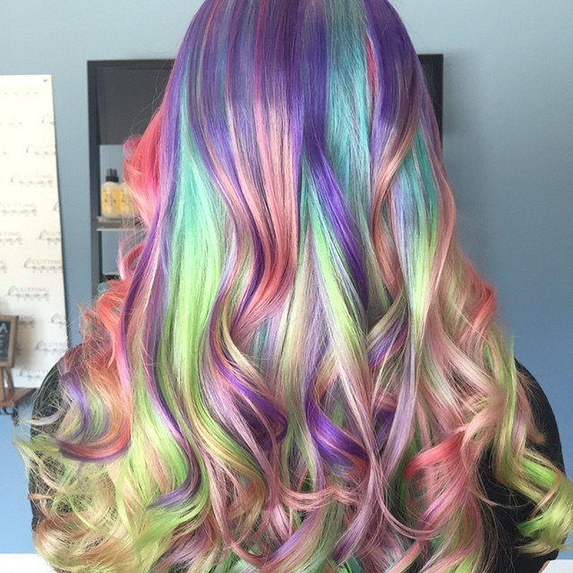 The Best 5 Self Mixoligized Pravana Shades Block Colored Hair Pictures