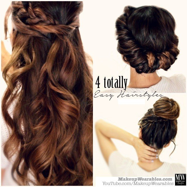 The Best 3 Totally Easy Back To School Hairstyles Cute Hair Tutorial Pictures