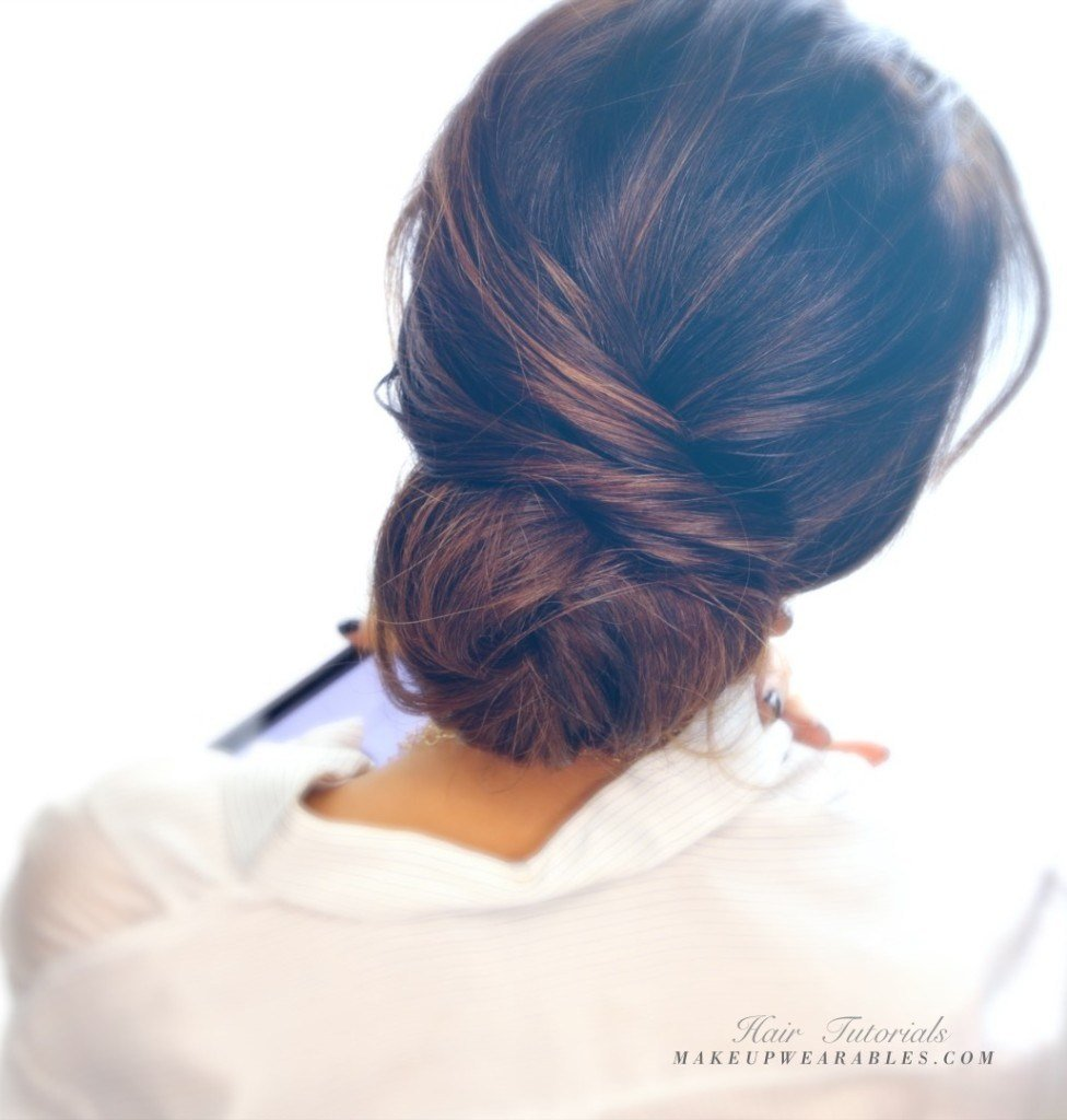 The Best Easy Messy Bun Updo Hairstyle For Medium Long Hair Tutorial Pictures