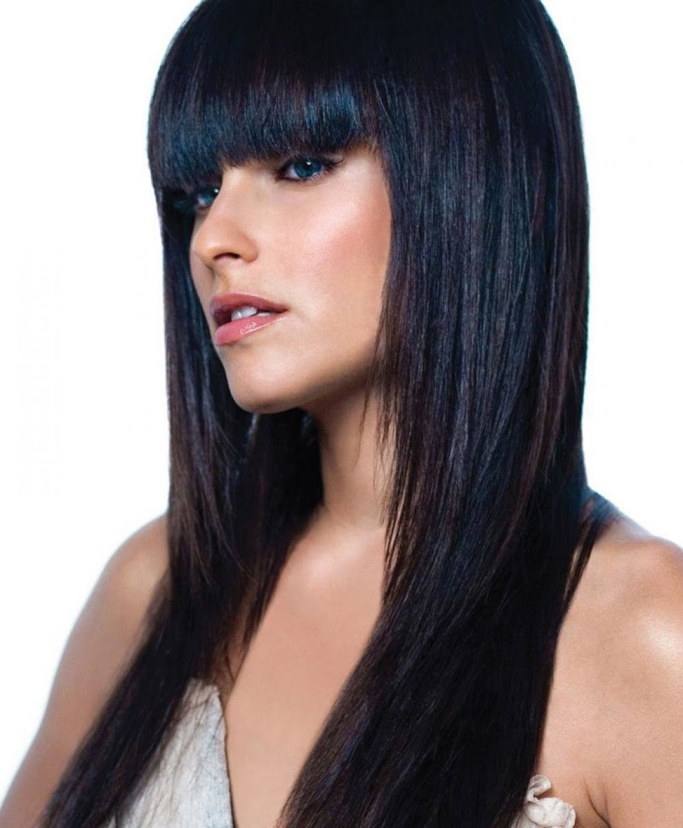 The Best Pictures Of Black Hairstyles For Long Hair With Bangs Pictures