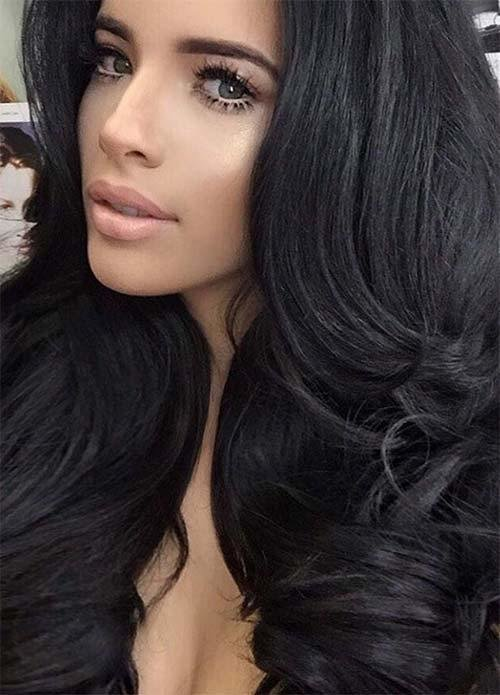 The Best 100 Dark Hair Colors Black Brown Red Dark Blonde Shades Fashionisers Pictures